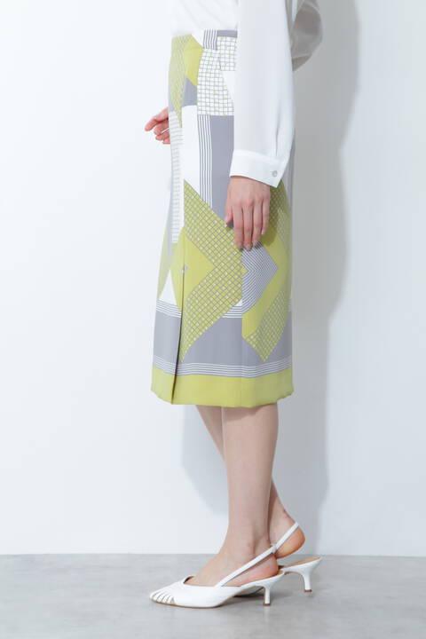 [ウォッシャブル]パッチワークプリントスカート