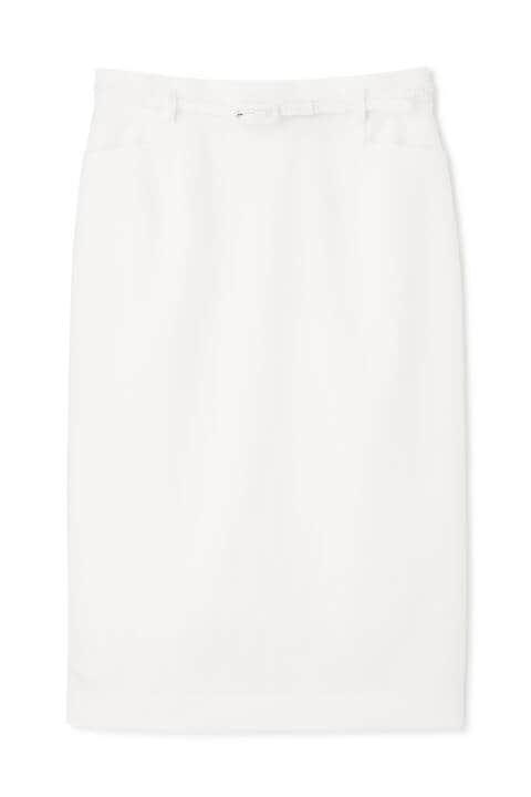 [ウォッシャブル]ベルト付タイトスカート