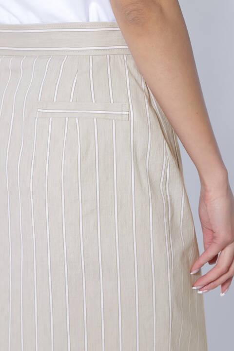 [WEB限定商品][ウォッシャブル]ストライプフロントジップスカート