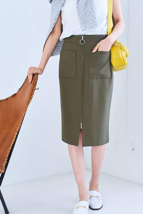 【WEB限定】フロントジップスカート