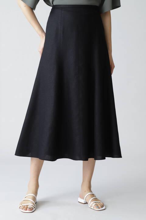 【先行予約 4月中旬-下旬入荷予定】《B ability》麻調スラブセットアップスカート
