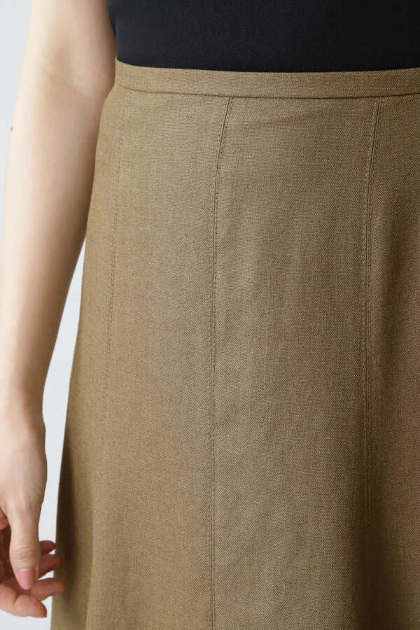 《B ability》麻調スラブセットアップスカート