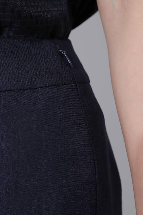 [ウォッシャブル]麻調ツイルセットアップスカート