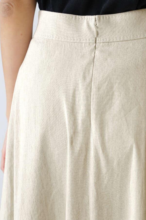 《B ability》麻ストレッチフレアスカート