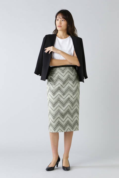 《B ability》ヘリンボンジャガードタイトスカート