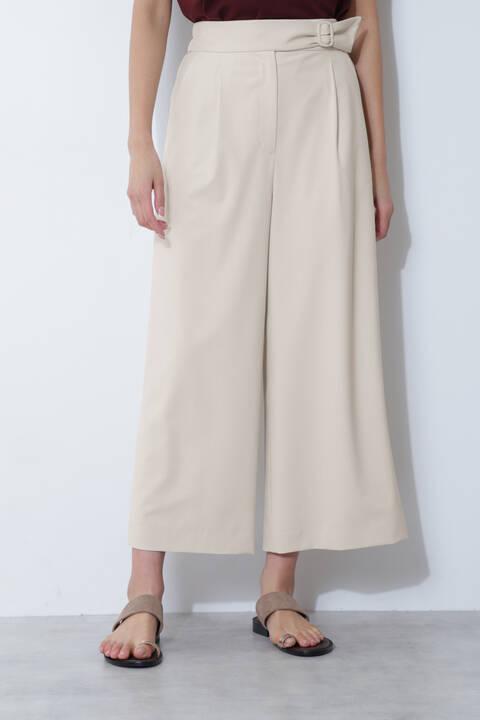 [ウォッシャブル]グルカワイドパンツ
