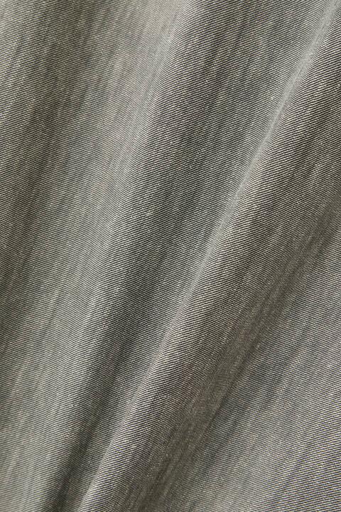 [ウォッシャブル]綿麻シャンブレーツイルワンピース