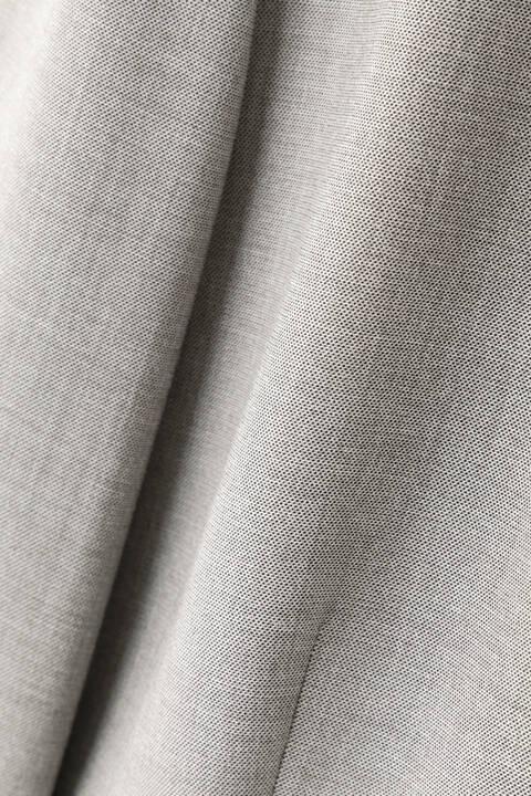 [ウォッシャブル]シャークスキンセットアップノーカラージャケット