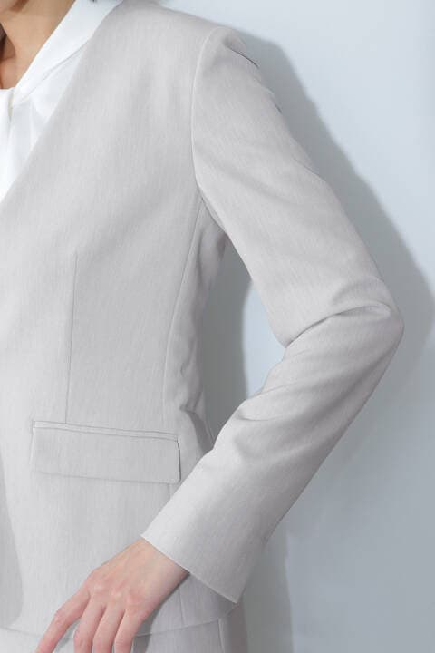 [ウォッシャブル]2WAYツイルセットアップジャケット