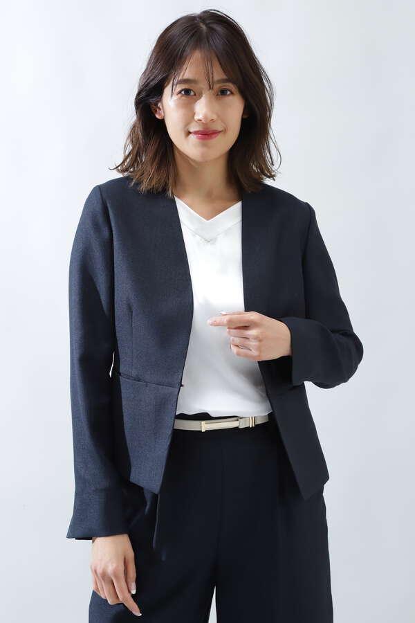 《B ability》麻調スラブセットアップジャケット【スーツクローゼット】