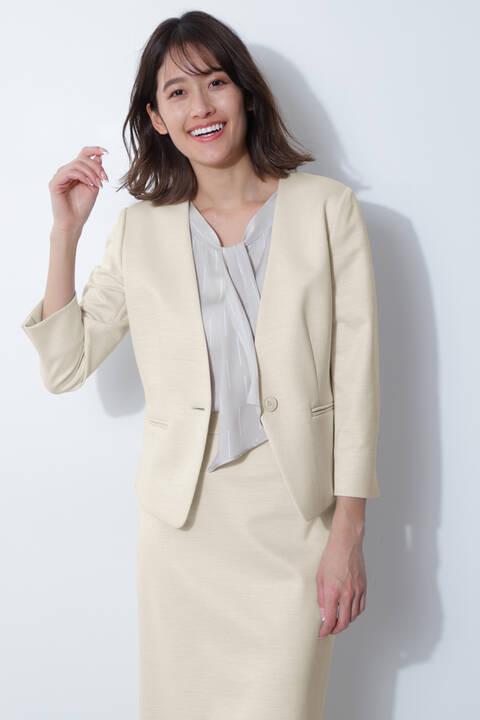 [ウォッシャブル]モクロディセットアップジャケット
