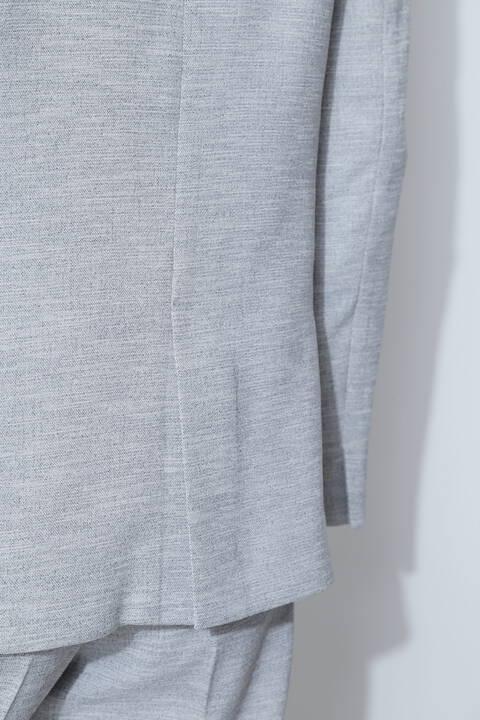 [ウォッシャブル]麻調オックスセットアップジャケット