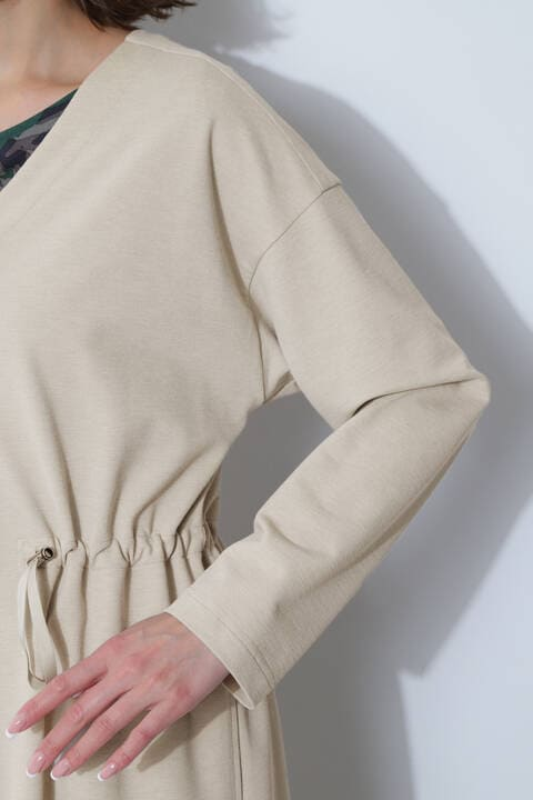 【先行予約 4月中旬-下旬入荷予定】[ウォッシャブル]綿混麻調ジャージージャケット