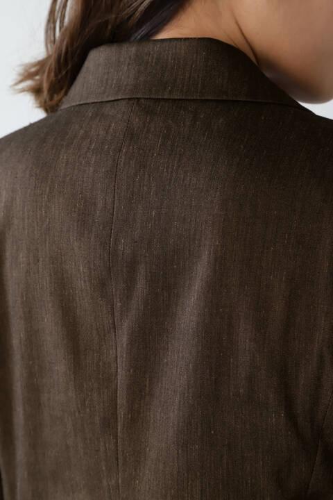 《B ability》麻ストレッチテーラードジャケット