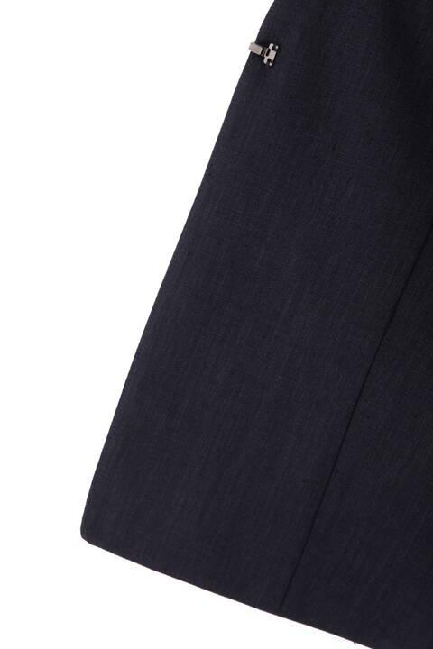 [ウォッシャブル]麻調ツイルセットアップジャケット