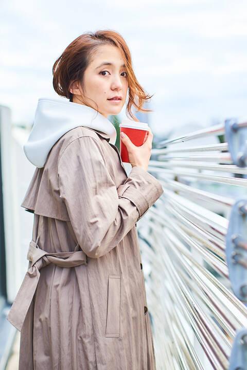 【雑誌 CLASSY 4月号掲載】ロングトレンチコート