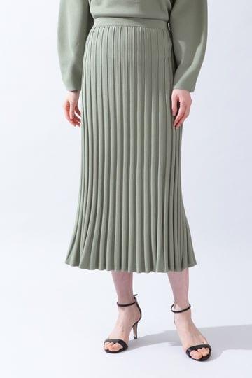 《B ability》プリーツリブセットアップニットスカート