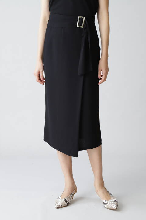 《B ability》ストレッチキュプラニットセットアップスカート