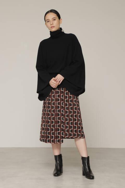 スクエアプリントスカート