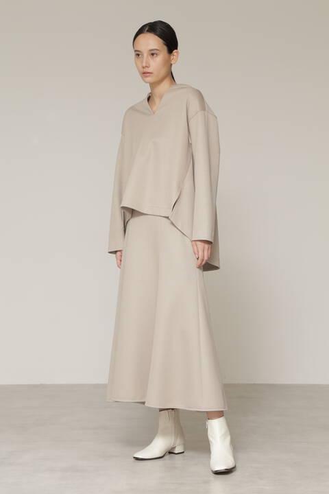 Wジャージセットアップスカート