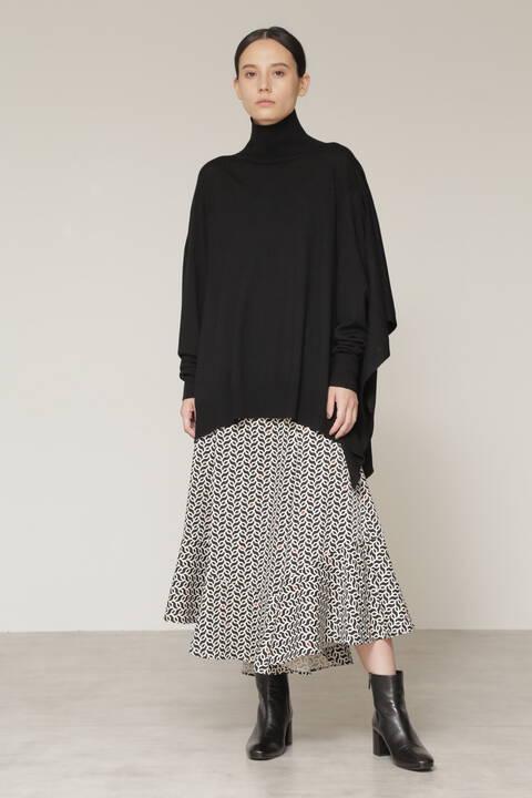 【永島優美さん着用】幾何プリントマキシフレアスカート