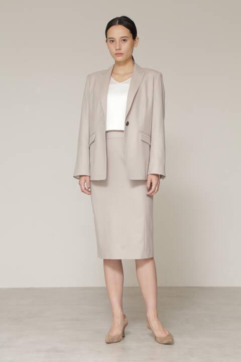 【先行予約 10月上旬-中旬入荷予定】ウールストレッチセットアップスカート