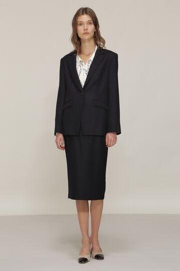 ウールストレッチセットアップスカート