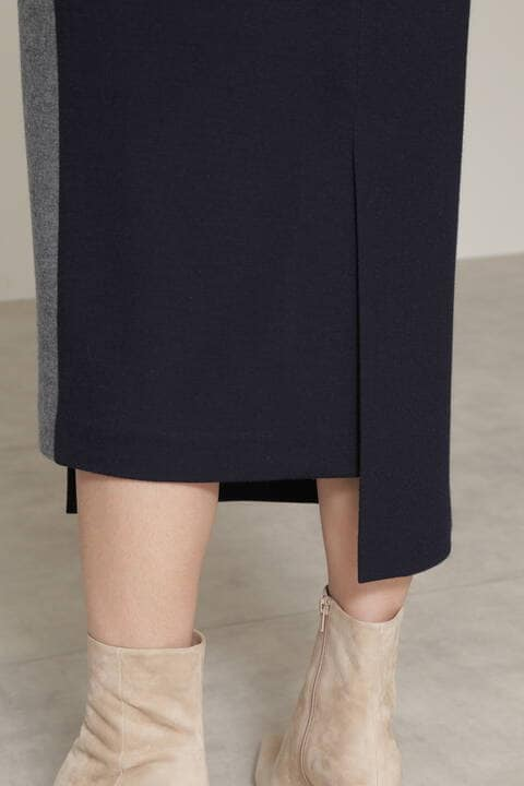 【先行予約 10月上旬-中旬入荷予定】ミルドスムースセットアップスカート