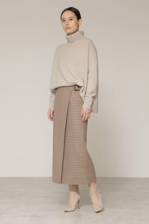 【先行予約 10月上旬-中旬入荷予定】ZONEストライプスカート