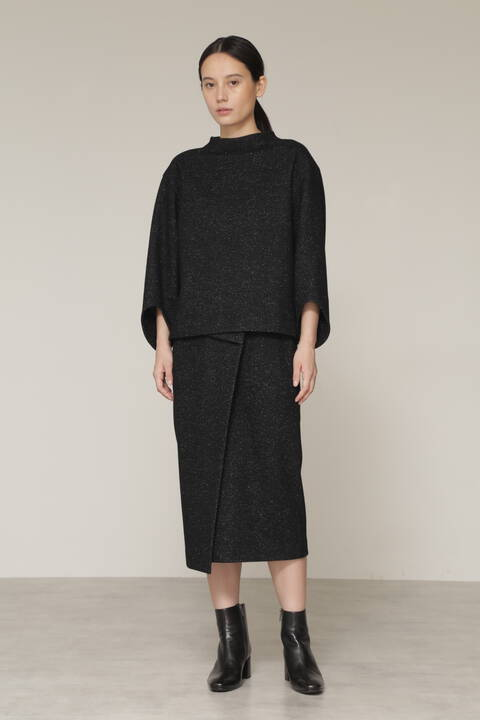 【先行予約 11月中旬-下旬入荷予定】ウールJQジャージーセットアップスカート
