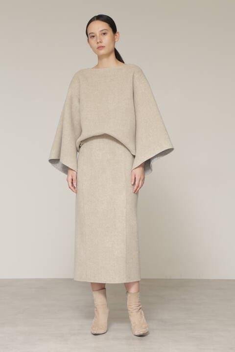 【先行予約 11月中旬-下旬入荷予定】ウールリバー配色セットアップスカート