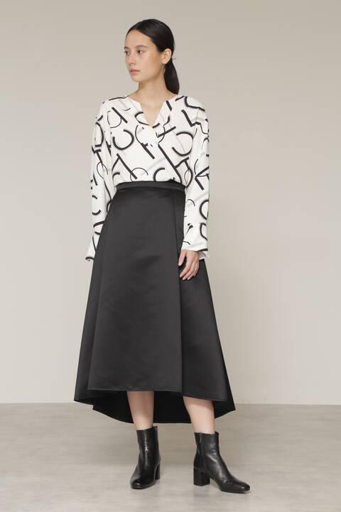 【先行予約 11月中旬-下旬入荷予定】サテンフィッシュテールスカート