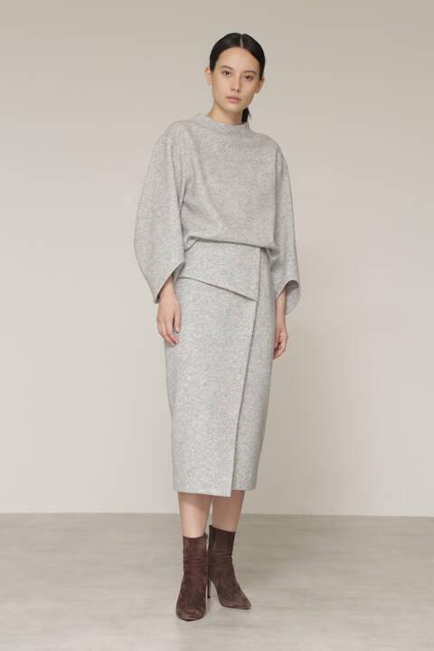 【先行予約 11月中旬-下旬入荷予定】ウールブークレセットアップスカート