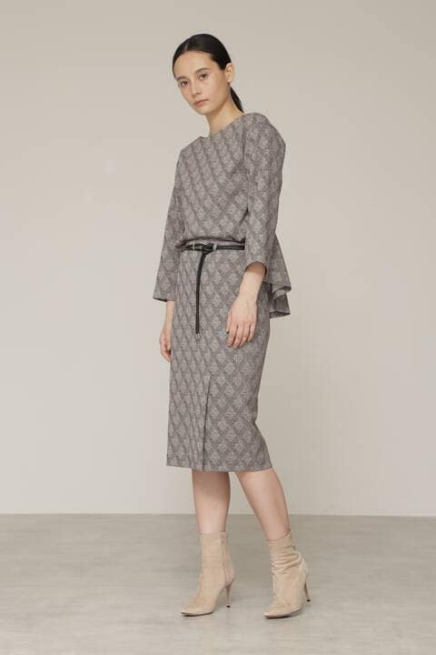 【先行予約 8月下旬-9月上旬入荷予定】ヘリンボーンジャージスカート