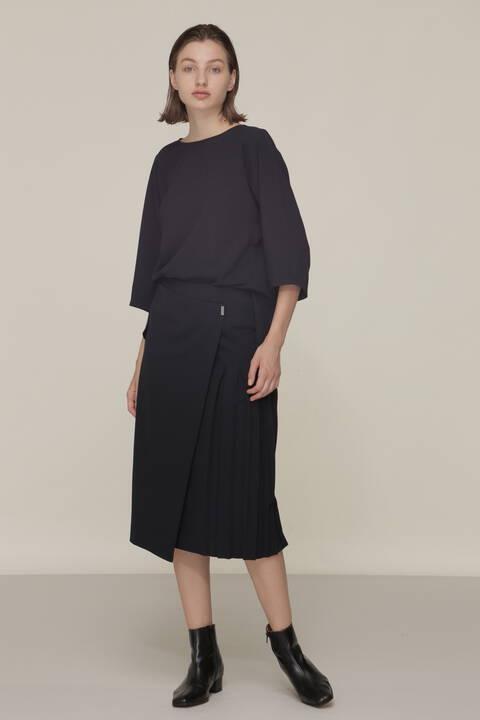 プリーツセットアップスカート
