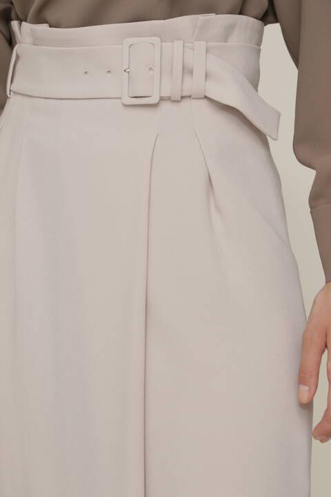 バックサテンジョーゼットセットアップスカート