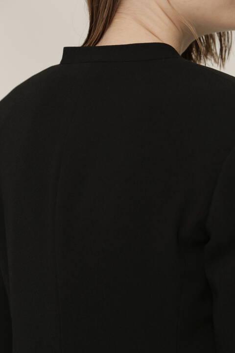 バックサテンジョーゼットセットアップジャケット