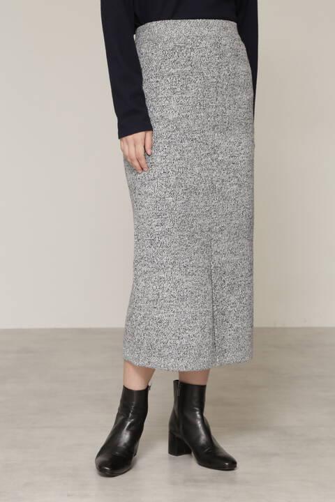 ミックスカラーニットセットアップスカート