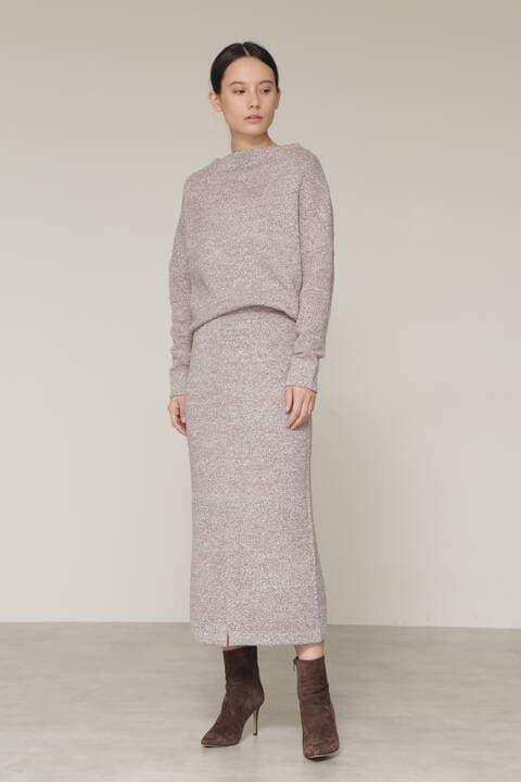【先行予約 11月中旬-下旬入荷予定】ミックスカラーニットセットアップスカート