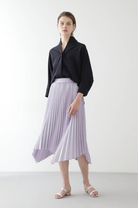 【先行予約 12月中旬-12月下旬荷予定】ランダムヘムプリーツスカート