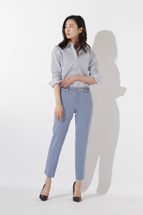 【CLASSY 5月号掲載】[ウォッシャブル]コットンストライプシャツ
