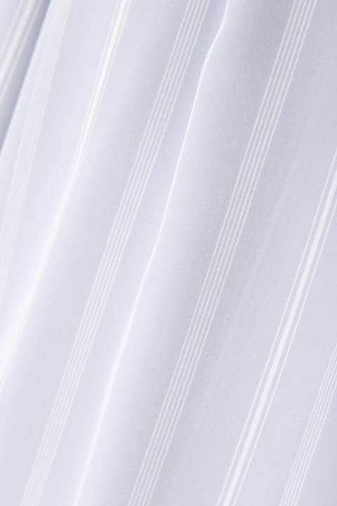 【水卜麻美さん着用】[ウォッシャブル]ランダムストライプデシンブラウス