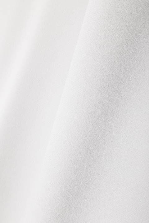 [ウォッシャブル]《B ability》バックサテンジョーゼットブラウス