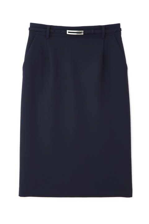 [ウォッシャブル]T/Rダブルクロスタイトスカート