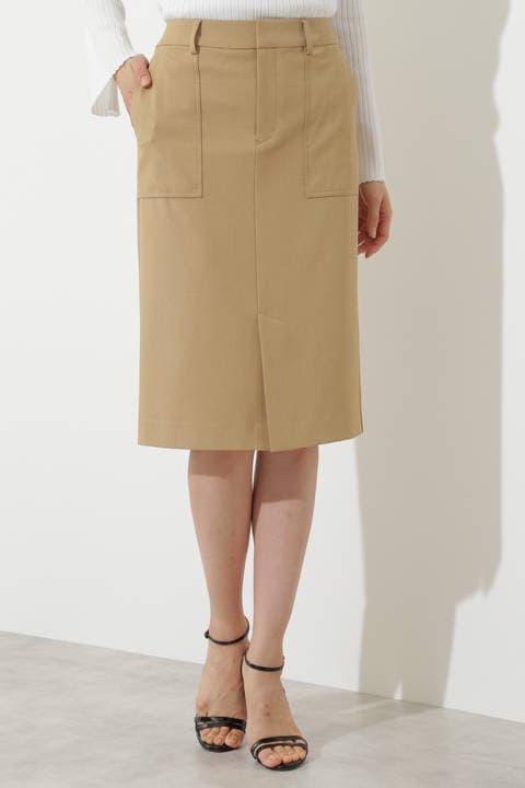 【竹内由恵さん着用】[ウォッシャブル]クール2Wayスカート