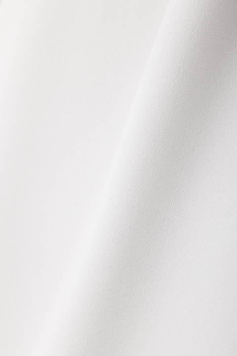 [ウォッシャブル]《B ability》バックサテンジョーゼットスカート