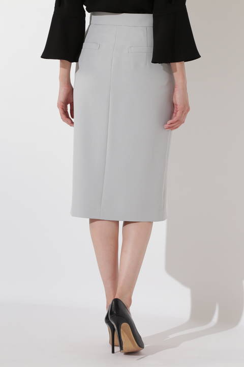 [WEB限定商品][ウォッシャブル]2WAYダブルクロスタイトスカート