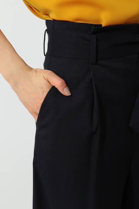 [ウォッシャブル]ギャバストレッチパンツ