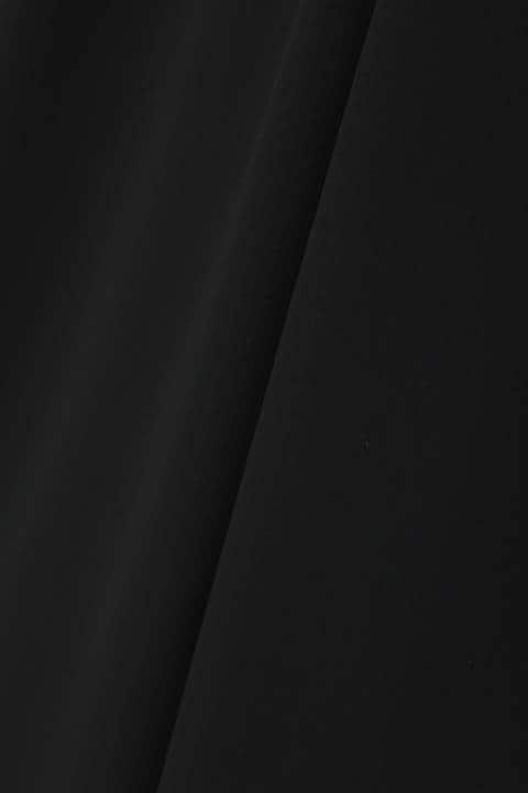 [ウォッシャブル]《B ability》サテン二重ハイウエストワイドパンツ