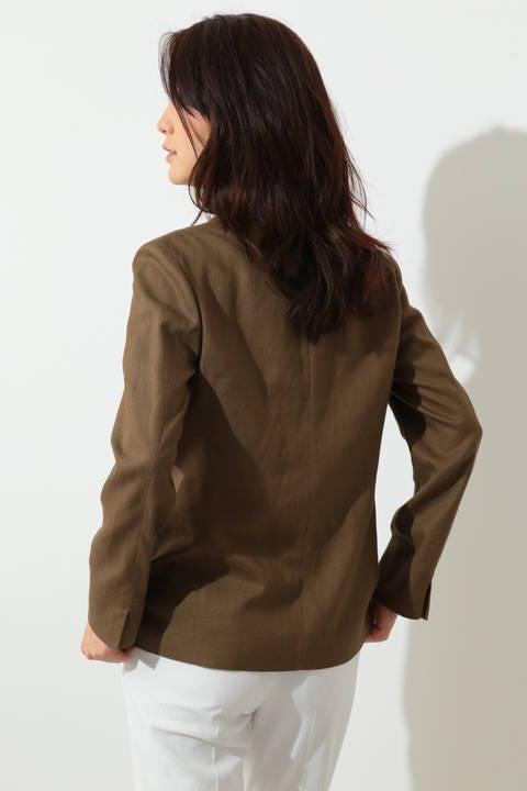 レーヨンリネンツイルジャケット